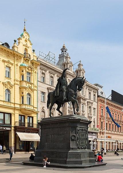 File:Estatua de Ban Jelacic, Zagreb, Croacia, 2014-04-13, DD 01.JPG