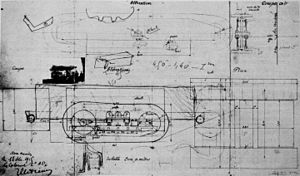 Schneider CA1 - Tank drawings ordered by Colonel Estienne right after the Souain experiment, drawn on 11 December 1915. The plans are basically based on the 45 hp Holt caterpillar, but a little picture of the Holt Model 75 is attached