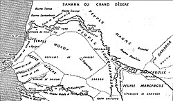 The Senegal River area, 1853. Emirate of Trarza at upper left
