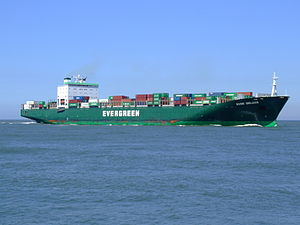 Ever Deluxe p4 approaching Port of Rotterdam, Holland 04-Aug-2007.jpg