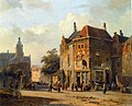Eversen Adrianus - Figures In The Streets of a Dutch Town.jpg