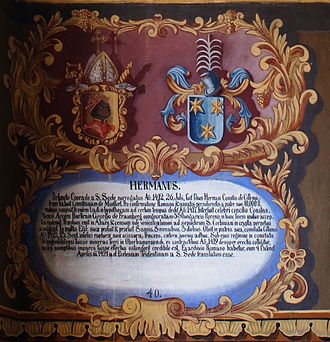 Hermann of Cilli - Table of arms of Hermann von Cilli (Freising residence)