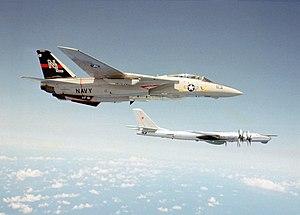 VF-51 - VF-51 F-14A intercepting a Tu-95 Bear.