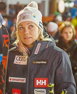 FIS Alpine Skiing World Cup in Stockholm 2019 Frida Hansdotter.jpg