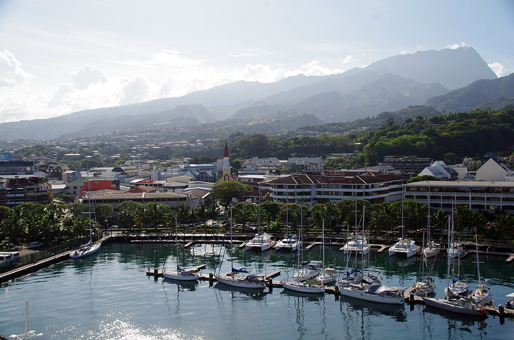 Marina of Papeete and city centre