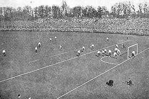 History of the FA Cup - 1901 FA Cup final at Crystal Palace, Sandy Brown just scored a goal