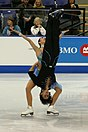 A reverse rotational lift, performed by Canadians Federica Faiella and Massimo Scali