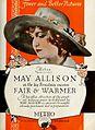 Fair and Warmer (1919) - Ad 2.jpg