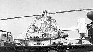 Fairey Ultra-light Helicopter - The fourth Ultra-light Helicopter exhibited on a lorry at the 1957 Paris Air Salon