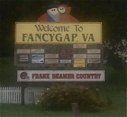 Fancy Gap welcome sign