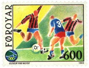 Faroe stamp 182 football