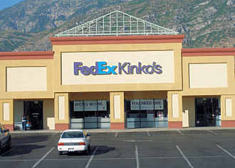 FedEx Office - A FedEx Office store with the FedEx Kinko's sign
