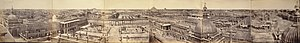 Lucknow - Panorama of Lucknow taken from Roshan-ud Daula Kothi Qaiserbagh in 1858