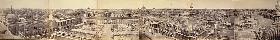 Panorama of Lucknow taken from Roshan-ud Daula Kothi Qaiserbagh in 1858
