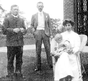 Howard Burnham - Frederick Russell Burnham, M. Howard Burnham, Connie Burnham, and baby Fred, c1904