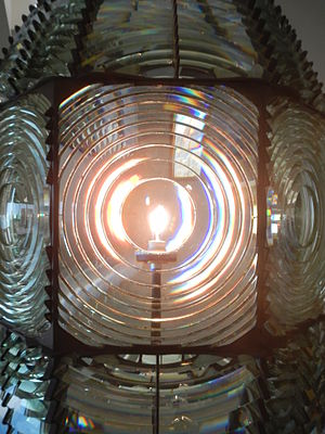 Fire Island Lighthouse - The original first order Fresnel lens