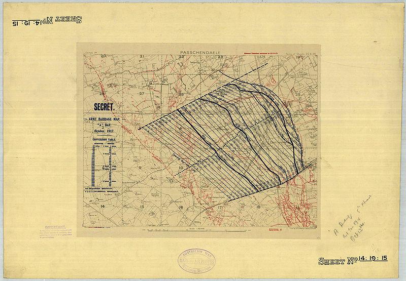 File:First Battle of Passchendaele - barrage map (original).jpg