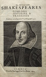Image of Shakespeare from the First Folio (1623), the first collected edition of his plays