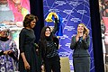 First Lady Michelle Obama and Deputy Secretary Higginbottom With 2014 IWOC Awardee Ruslana Lyzhychko of Ukraine (12935913344).jpg