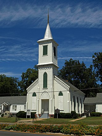National Register of Historic Places listings in Elmore County, Alabama - Image: First Presbyterian Wetumpka Sept 10 01