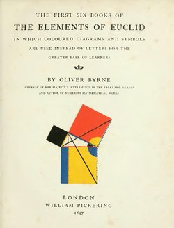 First six books of the elements of Euclid 1847 Byrne.djvu