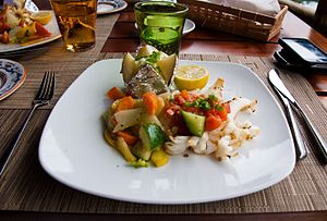 Cuisine of Mauritius - A fish dish at a restaurant in Mauritius