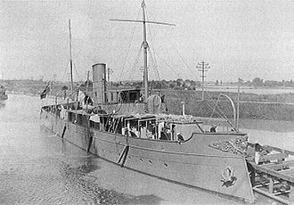 "Origins of the Royal Canadian Navy - Figure 3: CGS Vigilant. Built by Polson's at Toronto in 1904. She may be regarded as the first ""modern"" warship to be built in Canada."