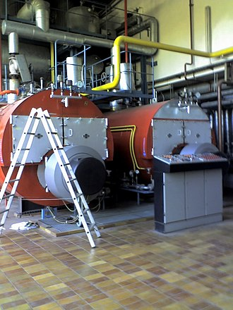 Fire-tube boiler - Horizontal Return Tubular boilers from the Staatsbad Bad Steben GmbH