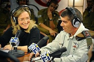 Army Radio - Ilana Dayan and Gabi Ashkenazi (Chief of General Staff) at an annual fundraising programme