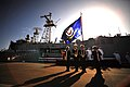 Flickr - Official U.S. Navy Imagery - High School JROTC students parade the colors during a decommissioning ceremony for USS Doyle.jpg