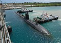 Flickr - Official U.S. Navy Imagery - USS Topeka prepares to come alongside the submarine tender USS Emory S. Land..jpg