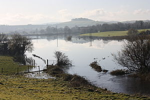 Climate of Ireland - Flooded farmland in County Down