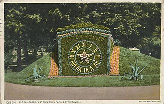 Floral clock - Image: Floral Clock, Water Works Park (NBY 2645)
