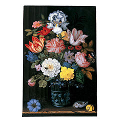 Floral Still Life with Shells