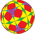 Flower of life on spherical truncated cuboctahedron.png