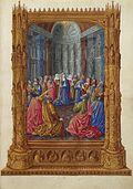 La Virgen rodeada de los apóstoles recibieron el Espíritu Santo en la basílica