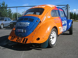 Folkrace - A VW Beetle used as a folk racing car.