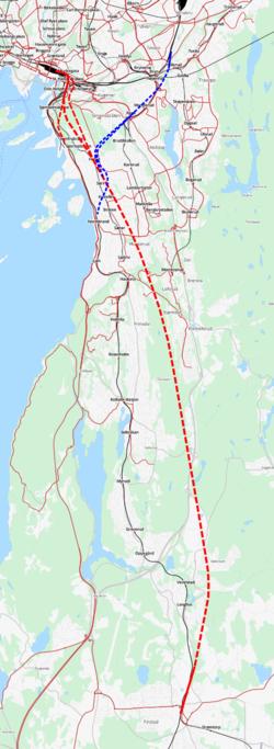 follotunnelen kart Follobanen – Wikipedia follotunnelen kart