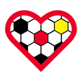 Football Heart Soccer Fußball Fussball Herz in Rot - Version Deutschland Germany Schwarz Rot Gold. Clemens Ratte-Polle.png