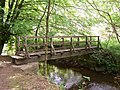 Footbridge across River Derwent in Hingles Wood - geograph.org.uk - 456780.jpg