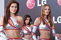 Des modèles féminins pour la marque LG au Grand Prix de Turquie 2009.