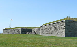 Fort Ontario - The walls of Fort Ontario