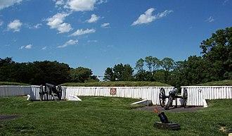 Fort Ward (Virginia) - Fort Ward's restored Northwest Bastion