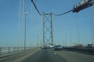Forth Road Bridge - High-tensile wires suspending the deck of the northbound carriageway