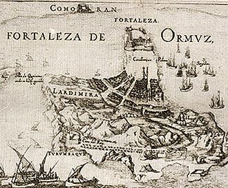 Capture of Ormuz (1507) - The city and fortress of Ormuz, 17th century