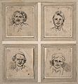 Four physiognomies. Drawings, c. 1789. Wellcome V0009117.jpg