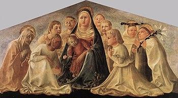 Fra Filippo Lippi - Madonna of Humility (Trivu...