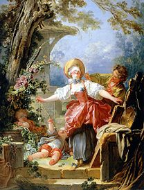 FRAGONARD Jean-Honoré The Blind Man's Bluff Game 1751
