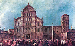 Francesco Guardi: The Procesion of the Doge at San Zaccaria
