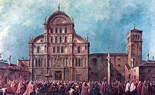 The Procesion of the Doge at San Zaccaria
